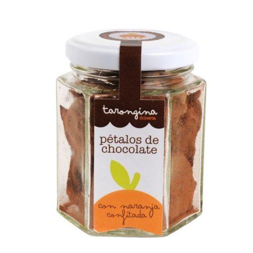 petalos de chocolate con naranja