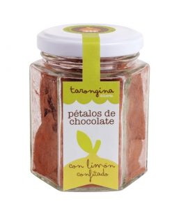 petalos de chocolate con limon