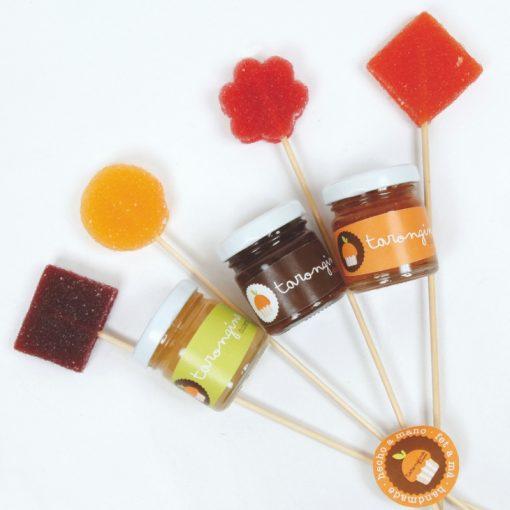 mini mermeladas y piruletas para eventos